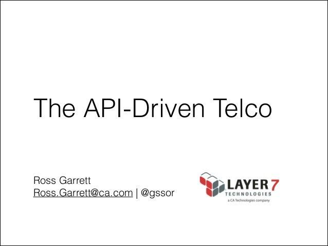 TADS Telecom Summit Layer 7 Ross Garrett