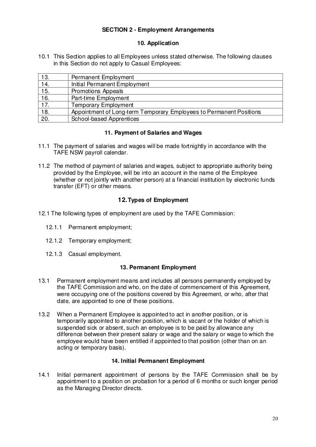 employees enterprise agreeme employee commission agreement