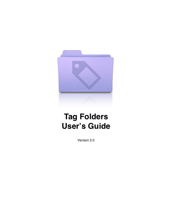 Tag Folders User Guide