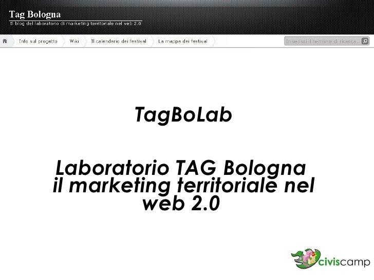 TagBoLab Laboratorio TAG Bologna  il marketing territoriale nel web 2.0