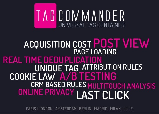 Tag commander - Features & Solutions
