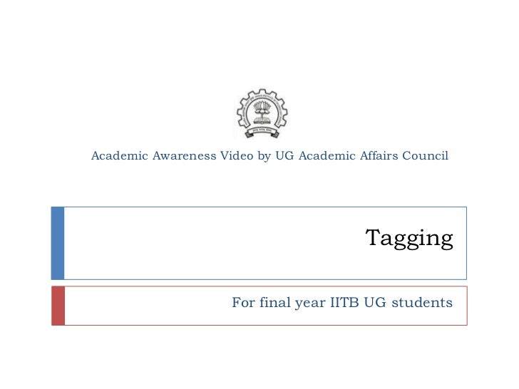 Academic Awareness Video by UG Academic Affairs Council                                          Tagging                  ...