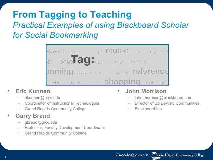 Tagging To Teaching