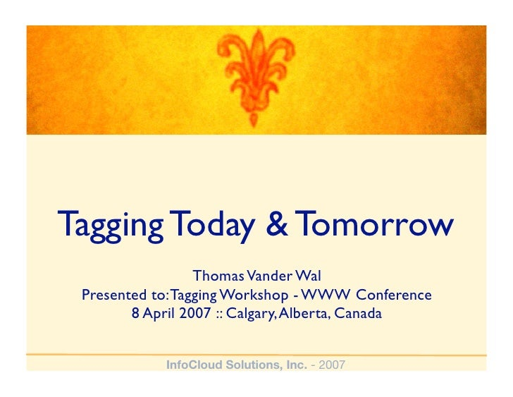 Tagging Today & Tomorrow - New Content