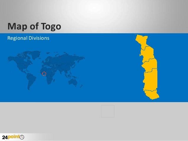 Map of Togo Regional Divisions