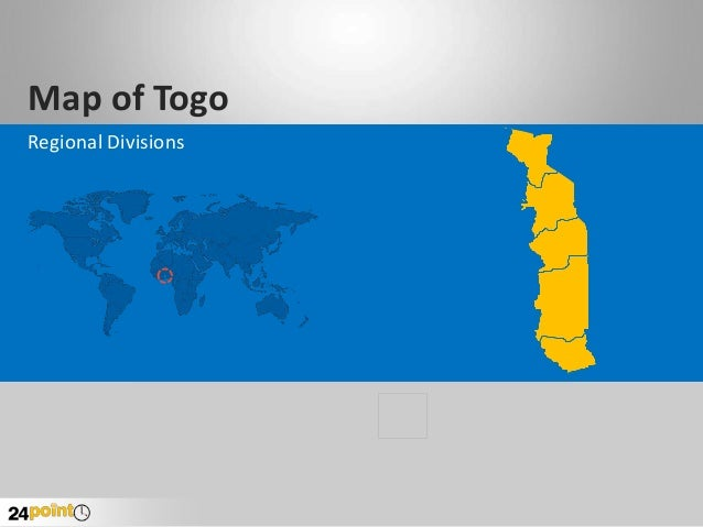 Togo Map with Regions - Business PowerPoint Presentations