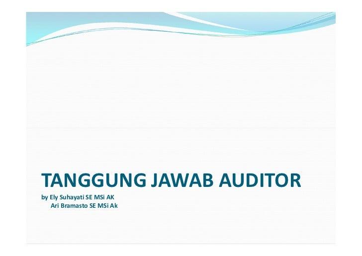 Tanggung jawab auditor