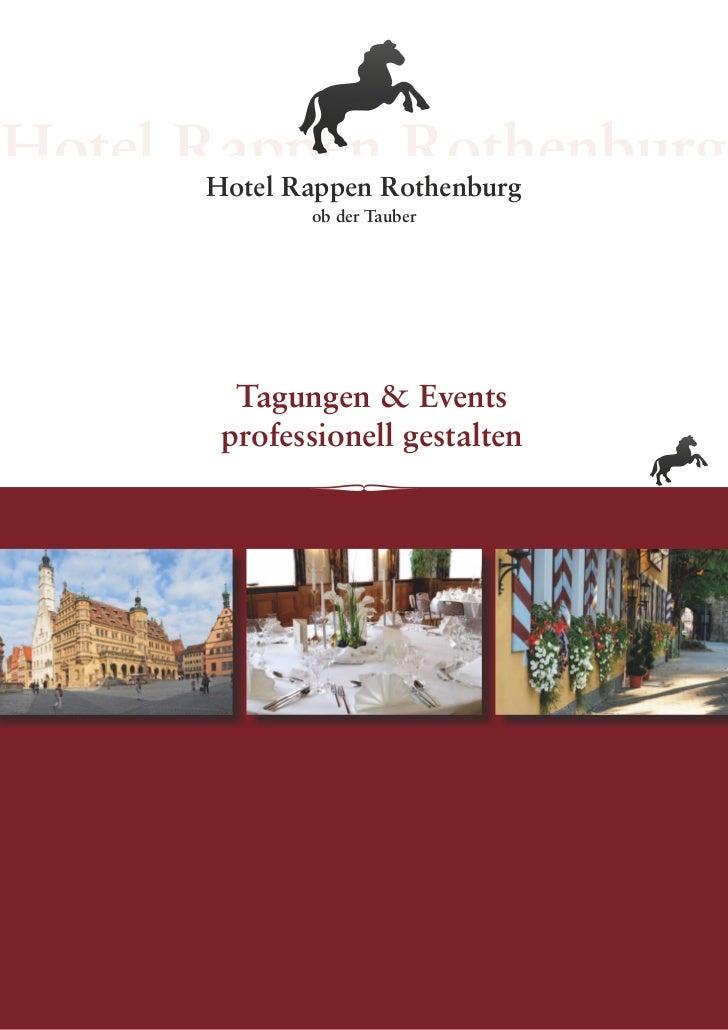 Hotel Rappen Rothenburg       ob der Tauber  Tagungen & Events professionell gestalten             1