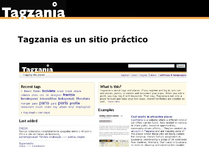 Tagzania es un sitio práctico