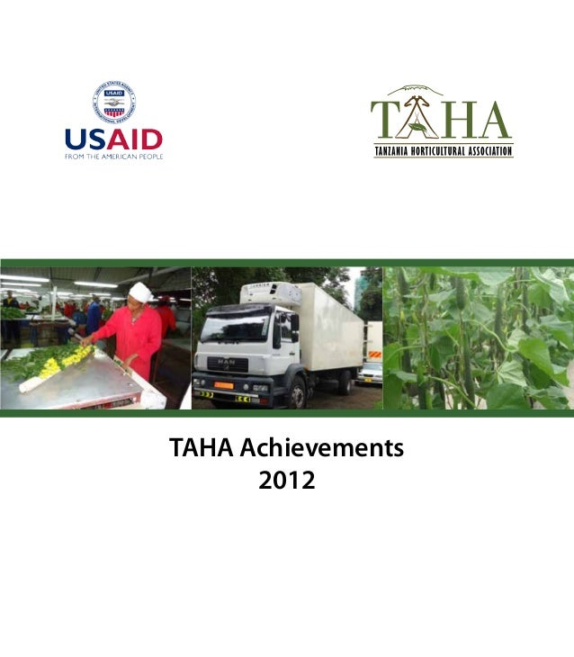 TAHA Achievements2012