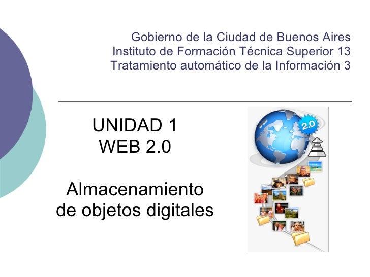 Gobierno de la Ciudad de Buenos Aires      Instituto de Formación Técnica Superior 13      Tratamiento automático de la In...