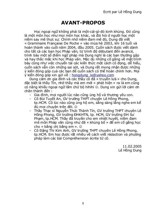 Ecrit par Lê Hồng Dung AVANT-PROPOS Học ngoại ngữ không phải là một-cái-gì-đó kinh khủng. Đó cũng là một môn học như mọi m...