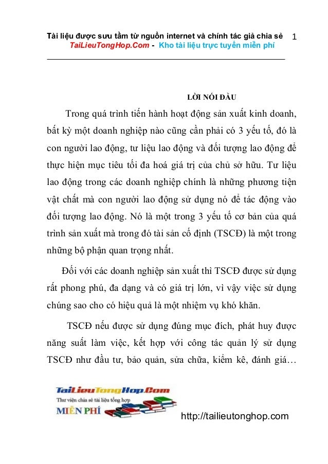 Tài liệu được sưu tầm từ nguồn internet và chính tác giả chia sẻ TaiLieuTongHop.Com - Kho tài liệu trực tuyến miễn phí  1 ...
