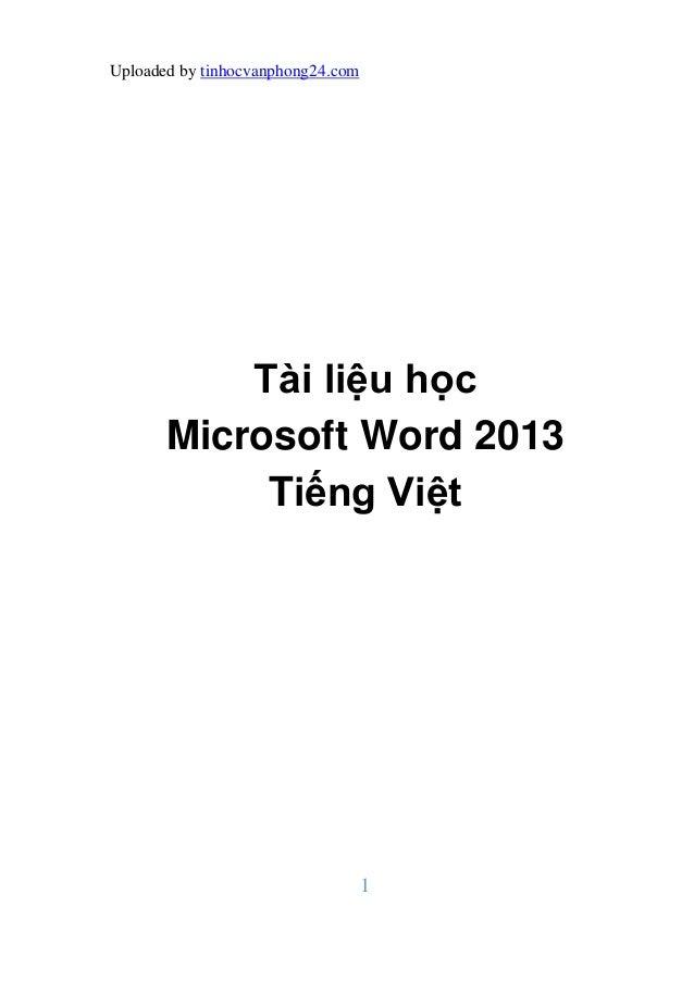 Tai lieu hoc ms word 2013 tieng viet