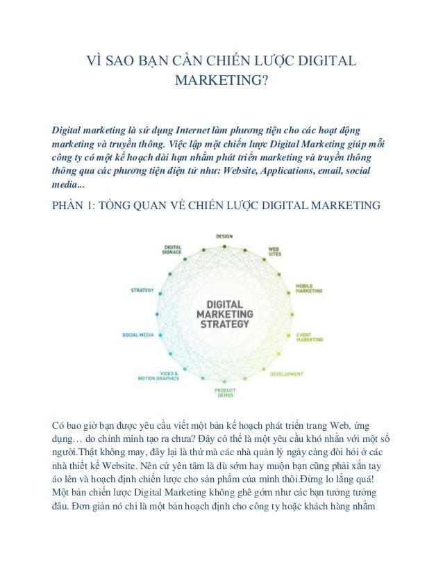 Vì sao cần xây dựng chiến lược Digital marketing?