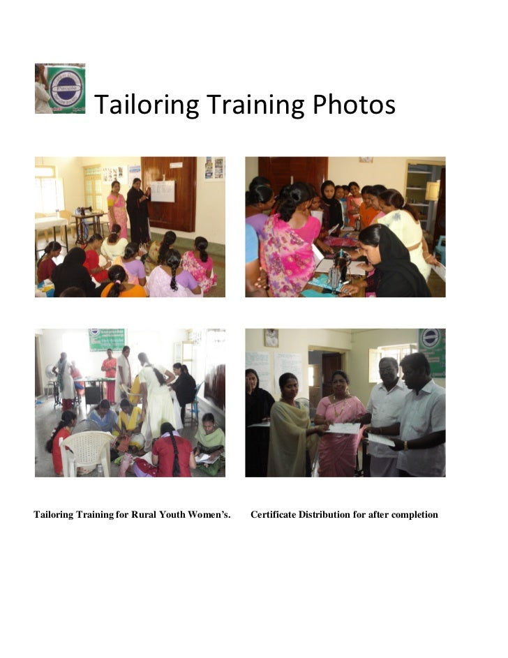 Tailoring Training PhotosTailoring Training for Rural Youth Women's.   Certificate Distribution for after completion