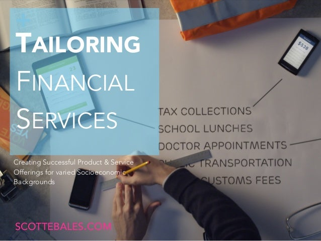 Tailoring Mobile Financial Services Products