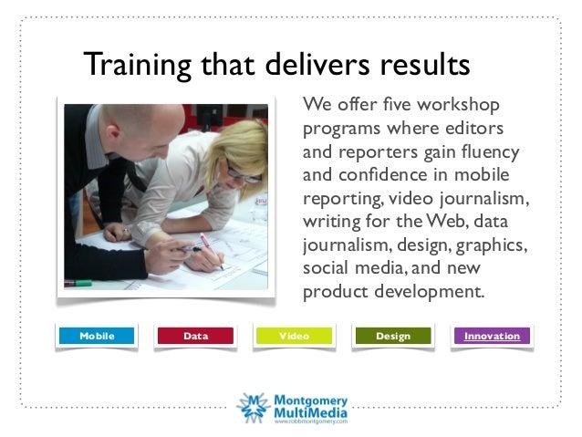 Digital journalism training brochure Robb Montgomery