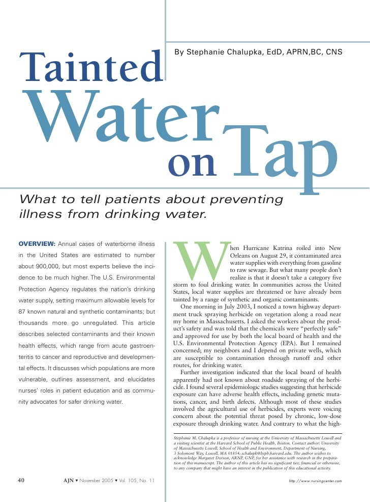 Tainted Wateron Tap