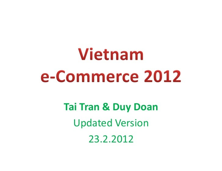Vietnam e-Commerce 2012 updated