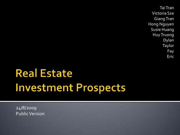 National Australia Bank Real Estate Investment Prospects