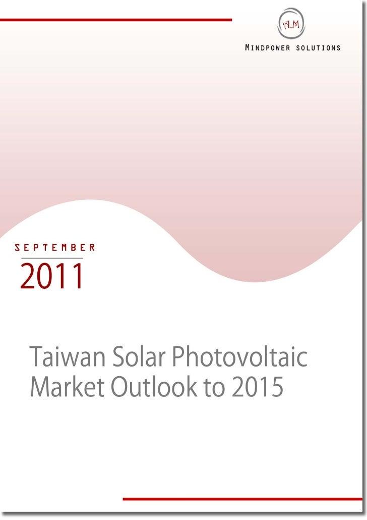 Taiwan Solar Photovoltaic Market Outlook to 2015