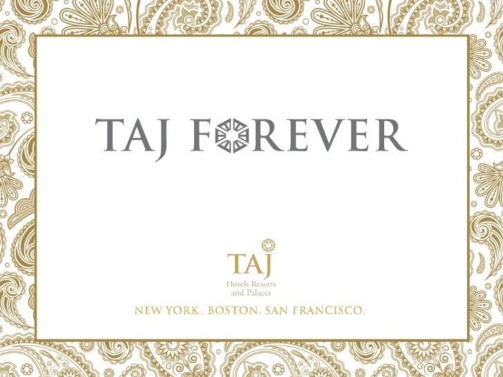 Taj Hotels Sales Presentation   Fran