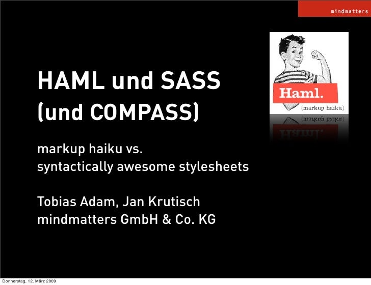 HAML / SASS and COMPASS
