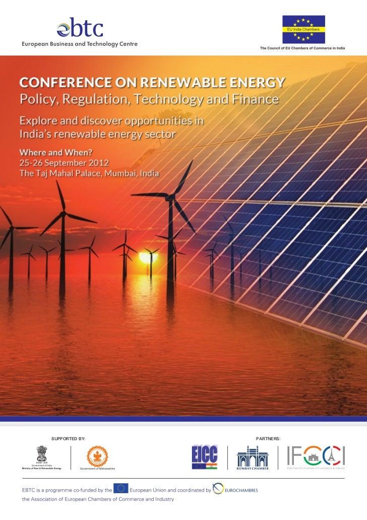 Taj renewable energy conference brochure