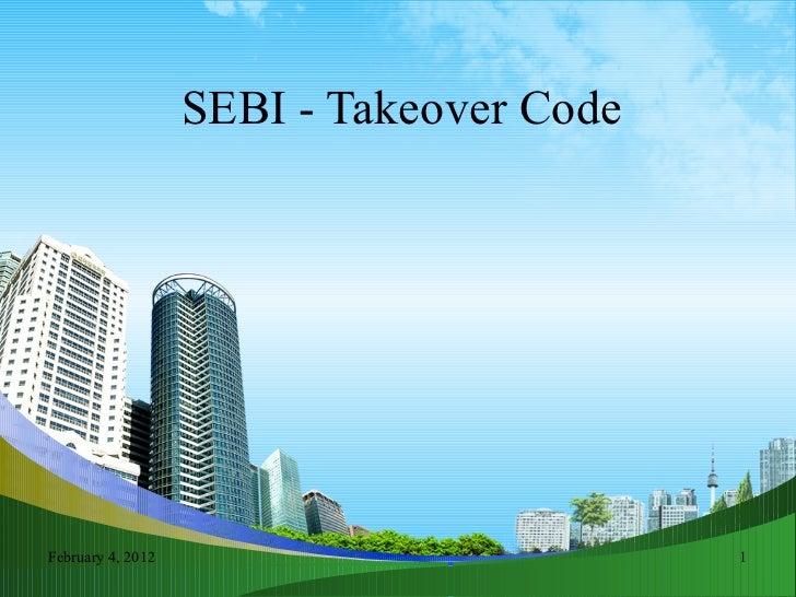 SEBI - Takeover Code
