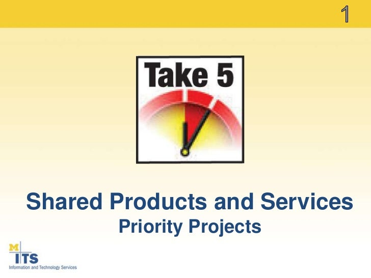 1<br />Shared Products and Services<br />Priority Projects<br />