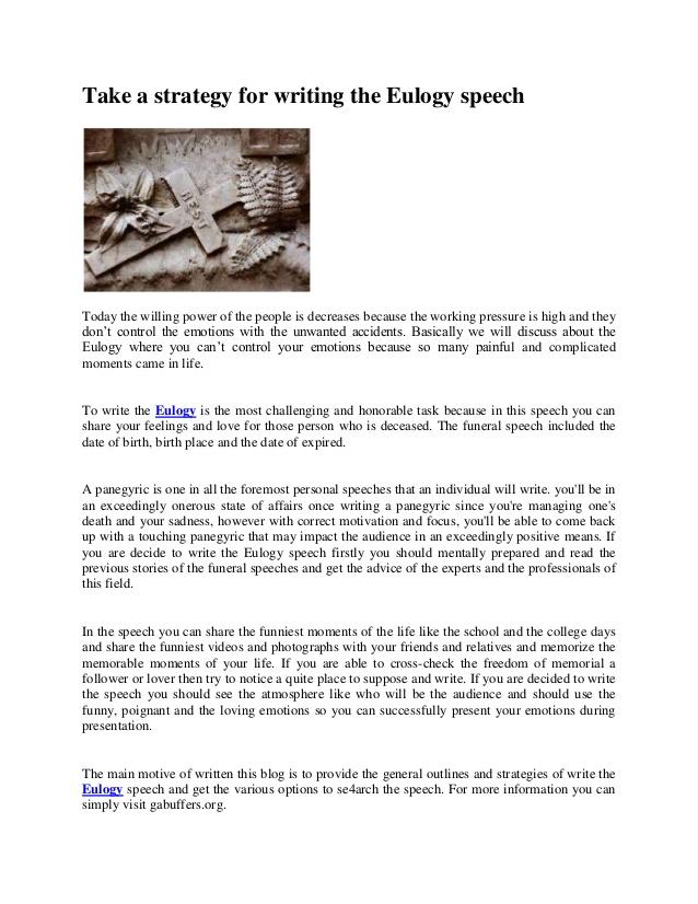 eulogy template