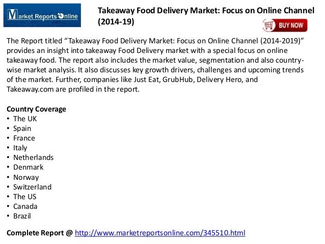 Global Takeaway Food Delivery Market