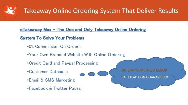Order resume online takeaway