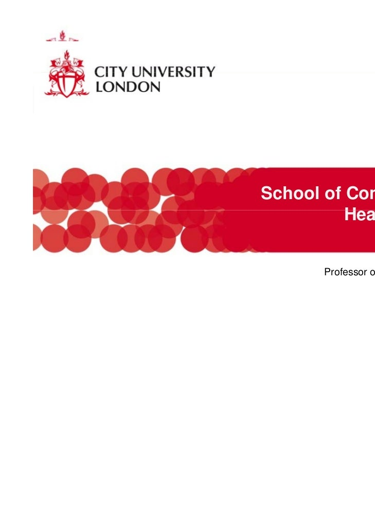 School of Community and          Health S i          H lth Sciences                          Martin CCaraher      Professo...