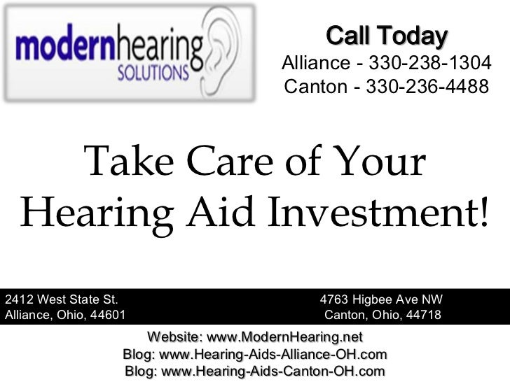 Take Care of Your Hearing Aid Investment!