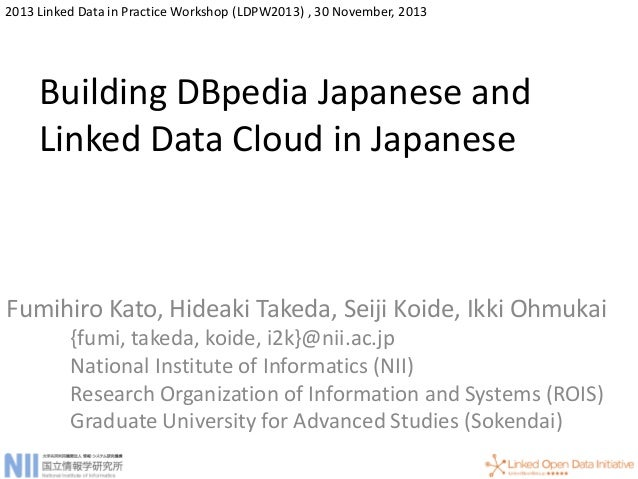 Building DBpedia Japanese and Linked Data Cloud in Japanese