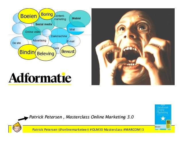 Patrick Petersen - Masterclass Online Marketing Strategie 3.0 Adformatie MARCOM