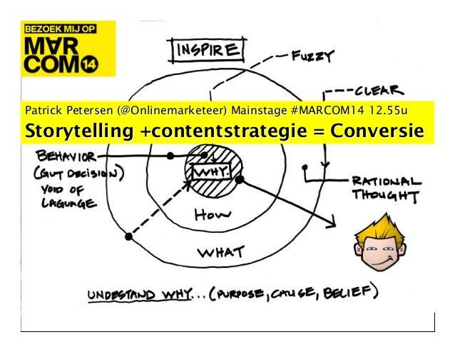 "TAKEOUT Keynote #MARCOM14 2014 ""Contentstrategie & Conversie"" #HOC Patrick Petersen RAI Amsterdam"