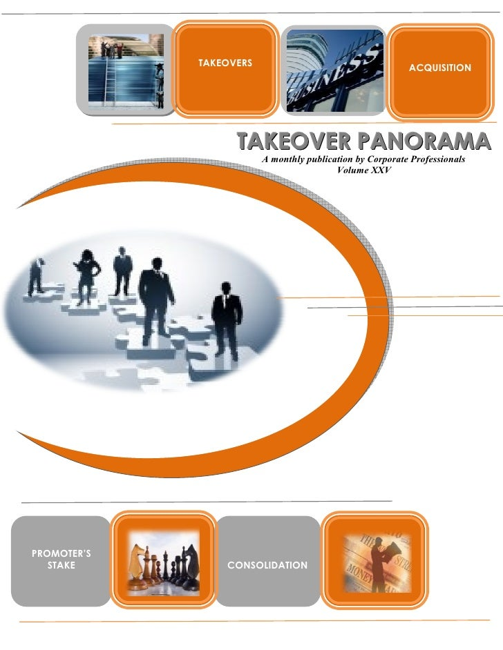Takeover panorama october issue-volume xxv - 2008-10-10