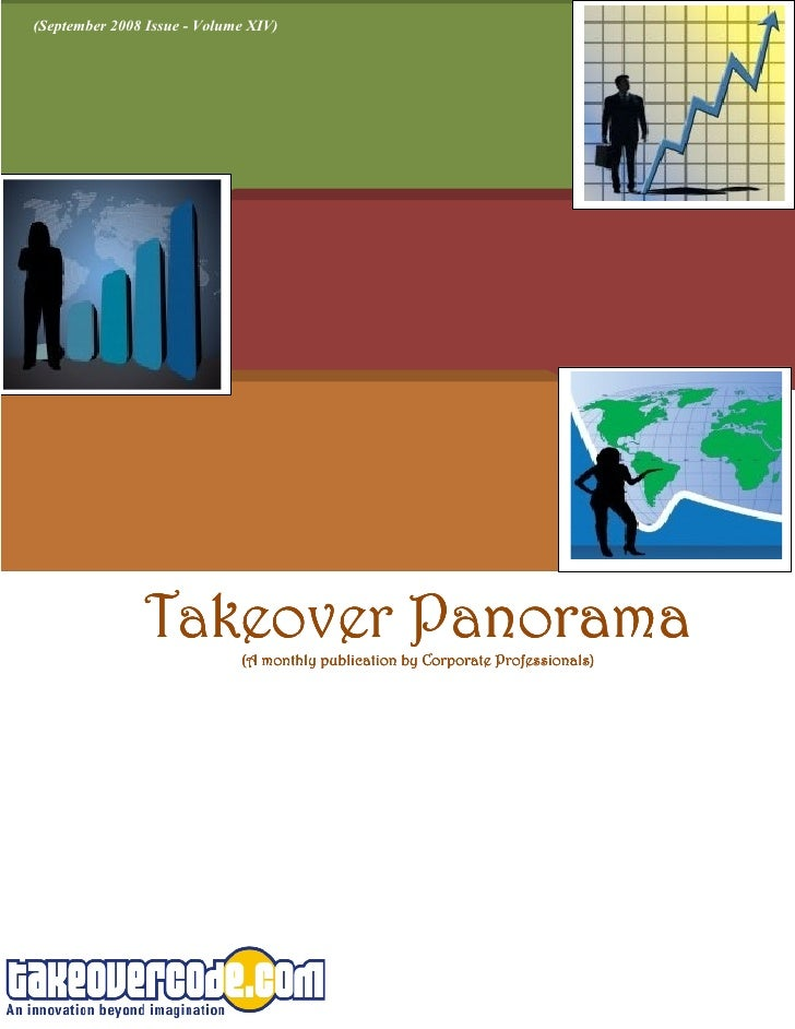 (September 2008 Issue - Volume XIV)                    Takeover Panorama                              (A monthly publicati...