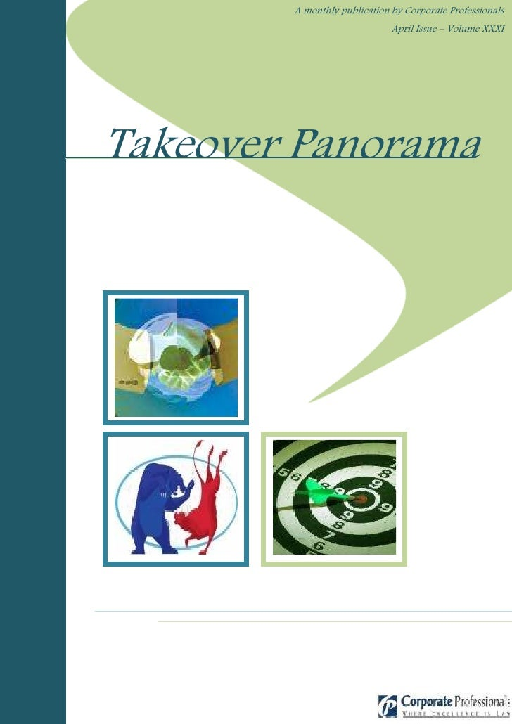 A monthly publication by Corporate Professionals                               April Issue – Volume XXXI     Takeover Pano...