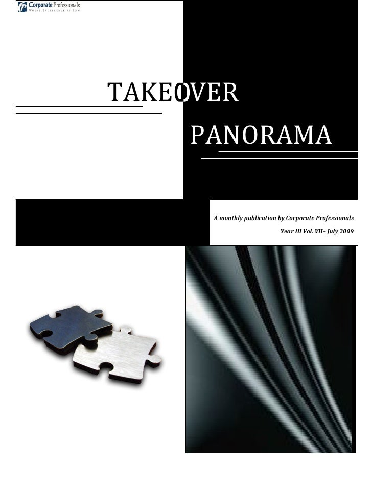 Takeover panorama july issue  year iii vol vii - 2009-07-10