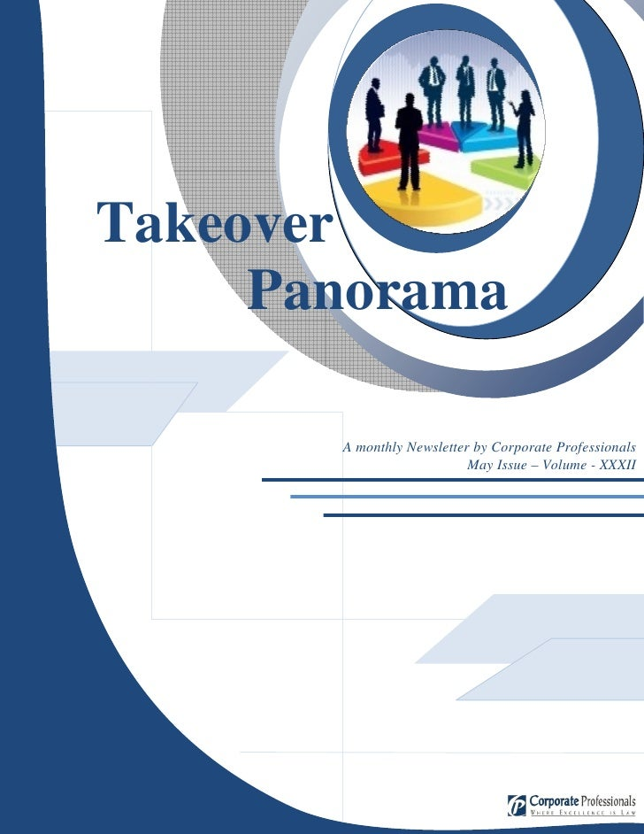 z     Takeover      Panorama         A monthly Newsletter by Corporate Professionals                            May Issue ...