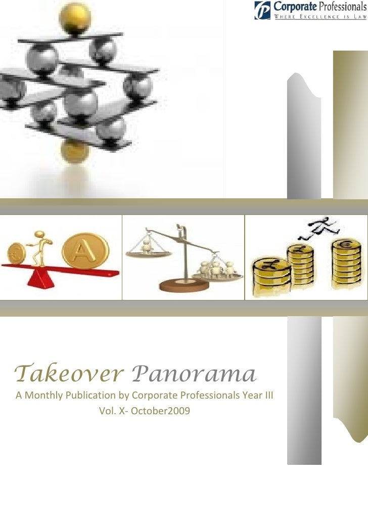 Takeover panorama october issue  year iii vol x - 2009-10-14