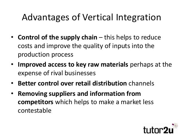 analysis into the vertical integration across