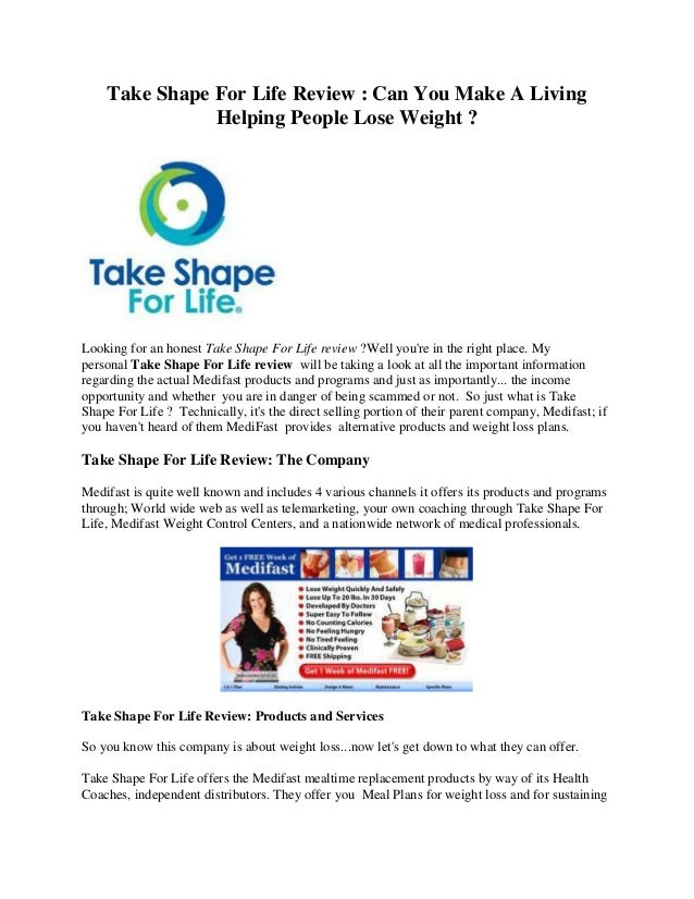 Take Shape For Life Review : Can You Make A Living Helping People Lose Weight ? Looking for an honest Take Shape For Life ...