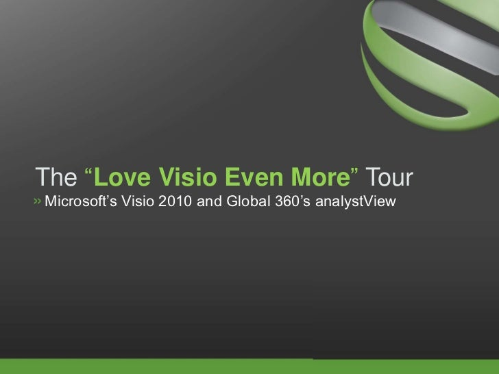 Take The Analyst View Tour