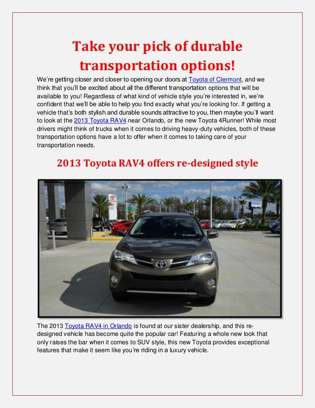 Take your pick of durable              transportation options!We're getting closer and closer to opening our doors at Toyo...