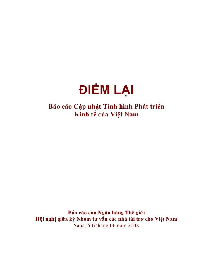 Bao cao cap nhat tinh hinh phat trien kinh te cua VN (2008)
